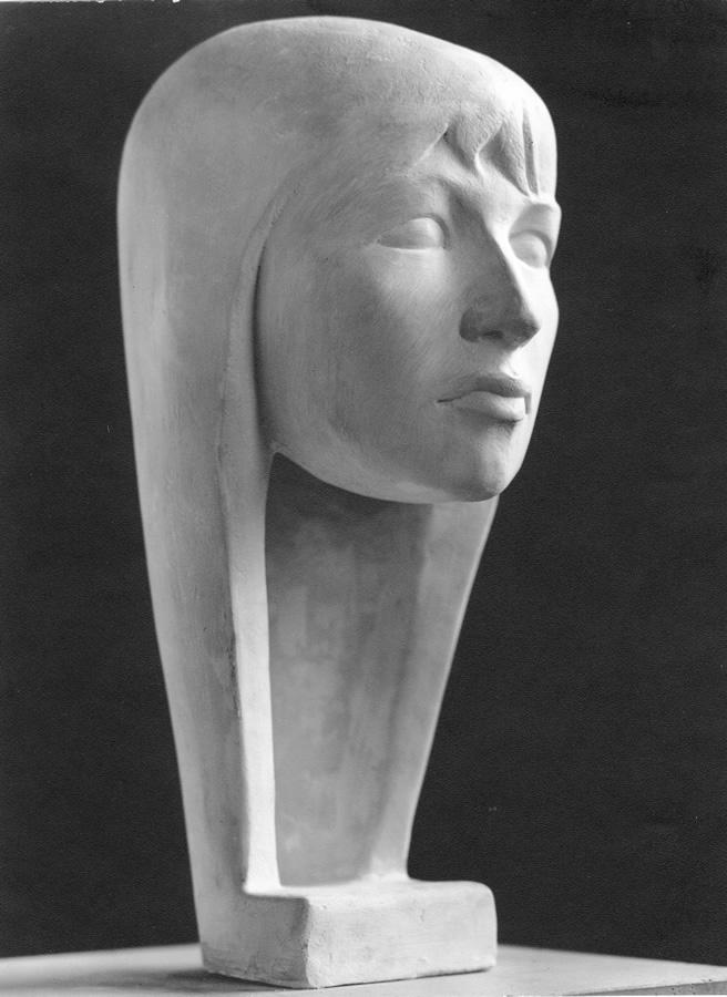 Natascha 2, Auftragsarbeit, Model für Bronzeguss, 50 cm, heute Verona