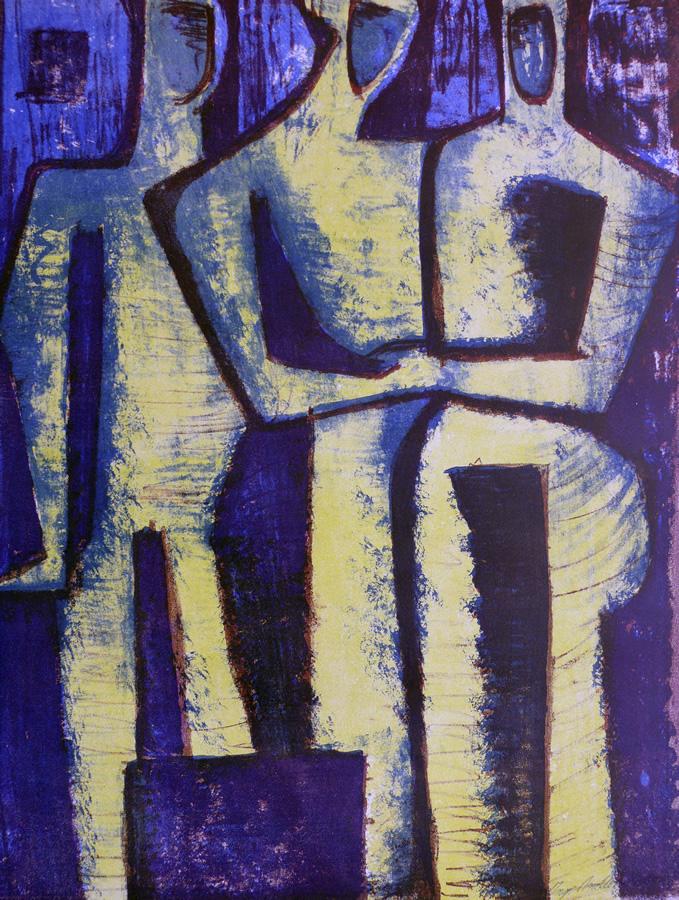 Drei Frauen, Lithographie