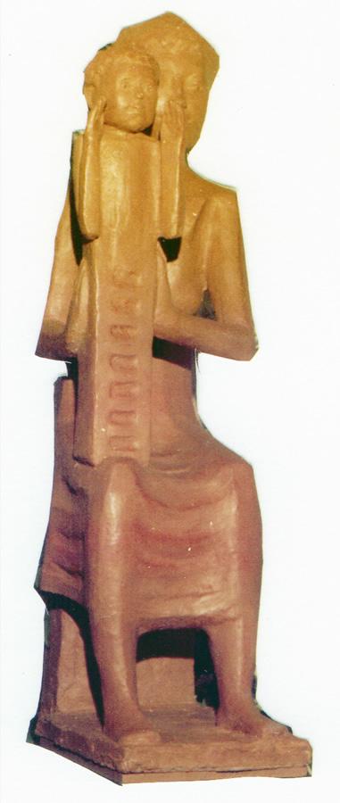 Heilige Monika Madonna, Steinguss, Höhe 95 cm
