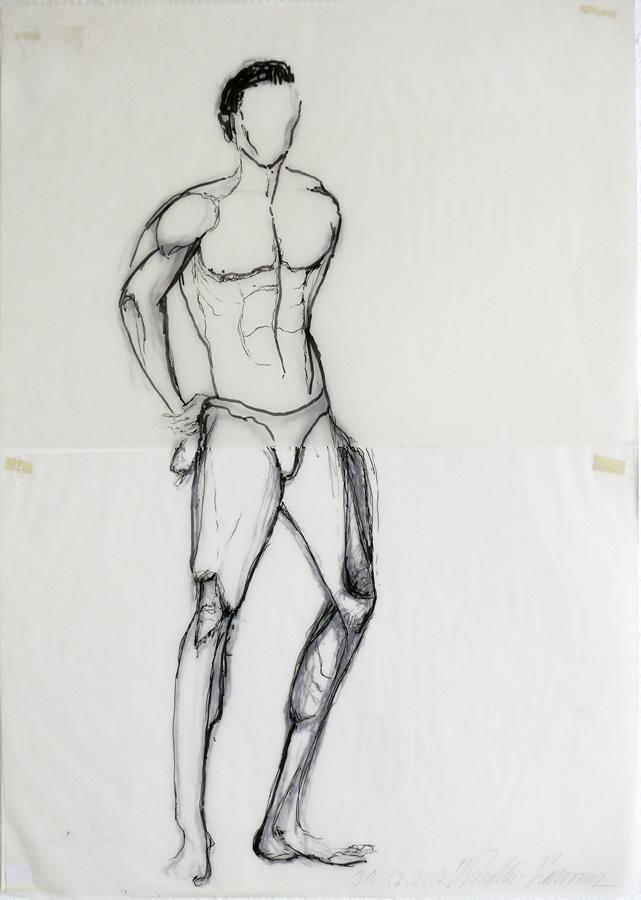 Patrick Heisel, Mr. Universum Fitness, Tuschezeichnung