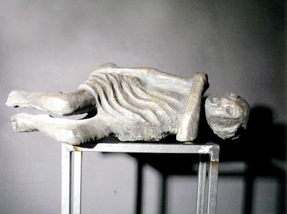 Angst, Bronzeguss mit Blattsilberauflage, Höhe 64 cm