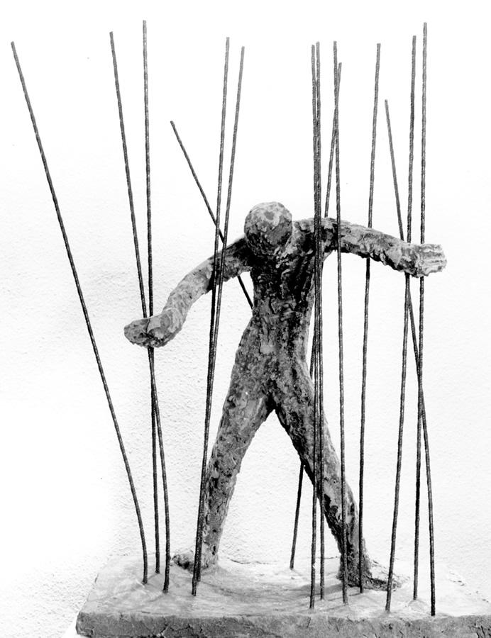 Mann in Eisen, Höhe 65 cm