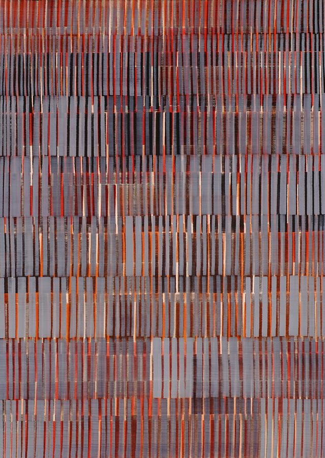 Nikola Dimitrov, Komposition II, 2012, Pigmente, Bindemittel, Lösungsmittel auf Leinwand, 190 × 135 cm