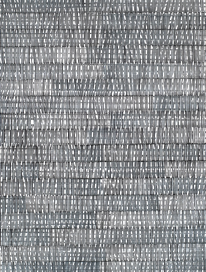 Nikola Dimitrov, Komposition IV, 2014, Pigmente, Bindemittel, Lösungsmittel auf Leinwand, 165 × 125 cm